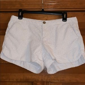 Lilly Pulitzer Women's 8 White Eyelet Lace Shorts